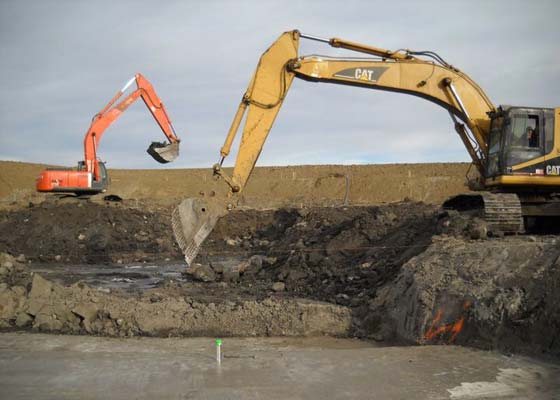 Coffer Dam Excavating